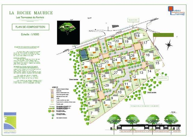 A vendre terrains La Roche Maurice proche Landerneau